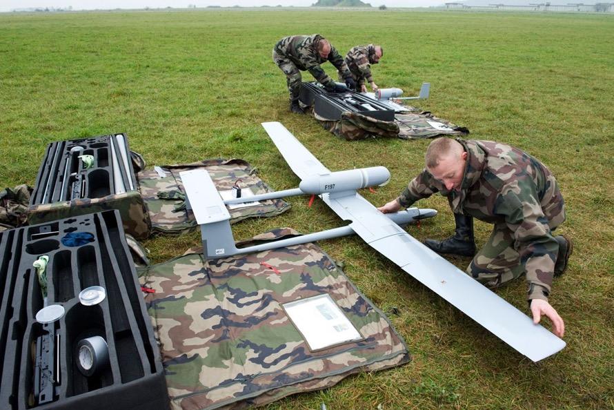 Une drone DRAC, engagé au sein du 2e régiment de hussards (RH). Source: Auteurs