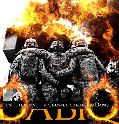 """Für den IS steht über allem die Erfüllung der Prophezeiung von der Endzeitschlacht gegen die """"Kreuzritter"""" bei Dabiq. / Quelle: Dabiq"""