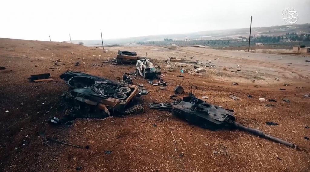 Die Verluste der türkischen Streitkräfte sind schwierig zu verifizieren. Diese beiden Panzer wurden vermutlich aufgegeben und nachträglich zerstört. Quelle: Below the Turret Ring